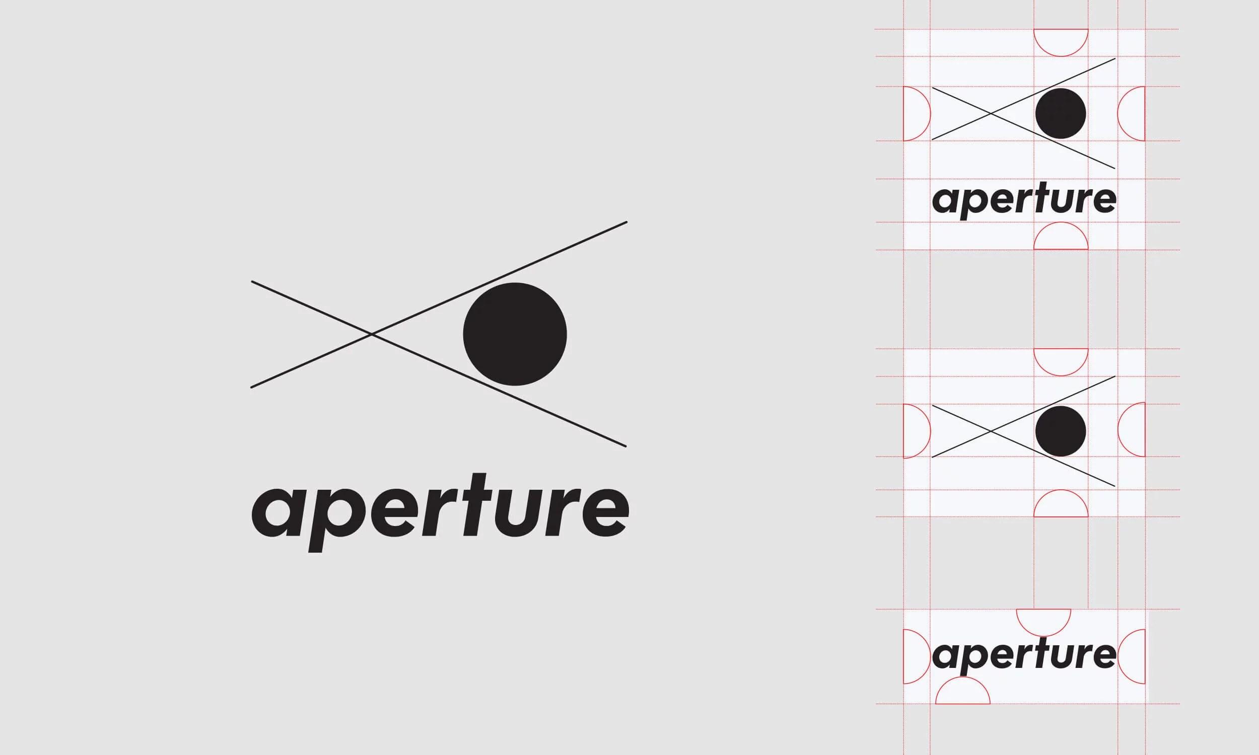 Aperture Rebranding, New Logo, Print Design, and