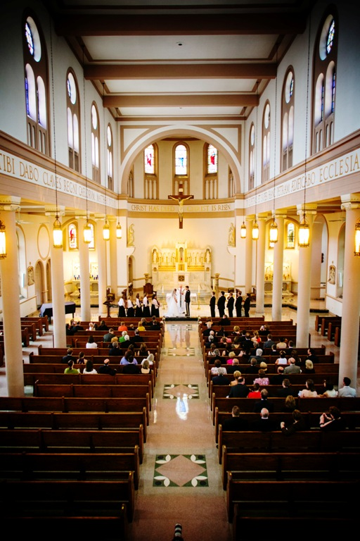 Saint Peters Catholic Church wedding