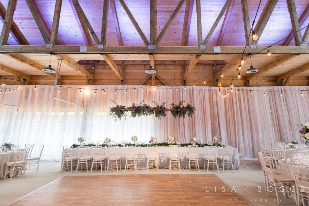 Wedding reception head tables