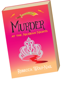 "Book cover for ""Murder at the Arabian Nights"""