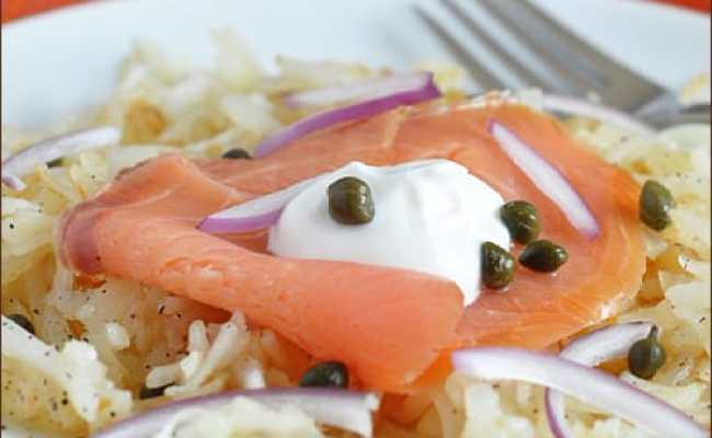 Hash Browns With Smoked Salmon And Capers