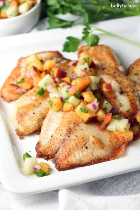Pan Seared Tilapia fillets