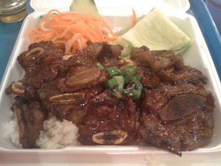 Grilled short ribs with rice