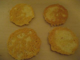 Parmesan crisps, after