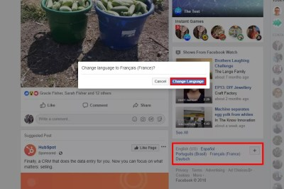 How to Change your Facebook to English