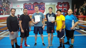 Muay Thai Kickboxing Graduation Class.
