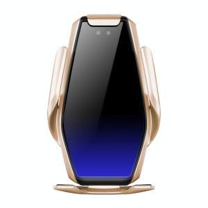 S7 15W QI 360 graden draaibare infrarood inductie auto air outlet draadloos opladen mobiele telefoonhouder voor 4 0-6 5 inch mobiele telefoons (Goud)