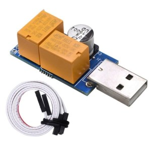 USB Watchdog-kaart Dubbel relais Onbeheerd Automatisch opnieuw opstarten Blauw scherm Crash-timer opnieuw opstarten voor 24-uurs Mining Server-gaming