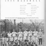 Belmont College 1955 Baseball Team