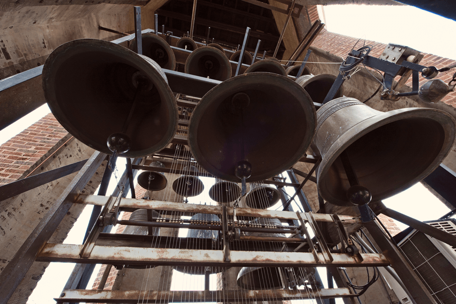 Carillon bells in campus Bell Tower