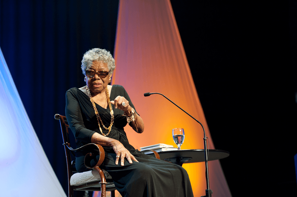 Maya Angelou delivers keynote address at 2012 Humanities Symposium