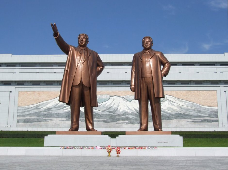 North Korea statues