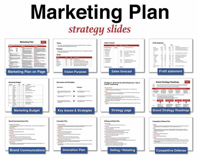 Marketing Plan template strategy slides