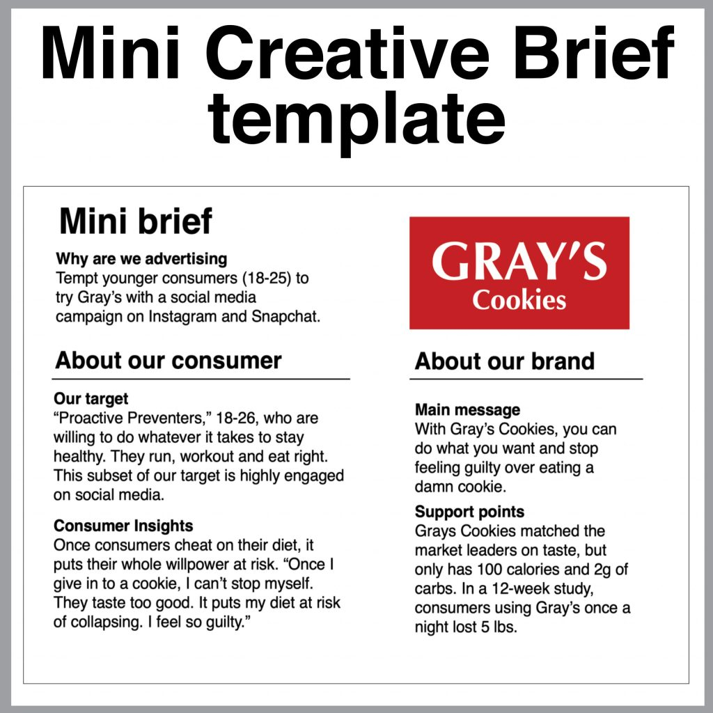 Mini Creative Brief template