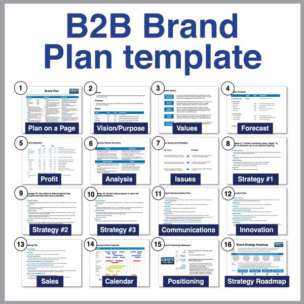Toolkit B2B Brand Plan Template