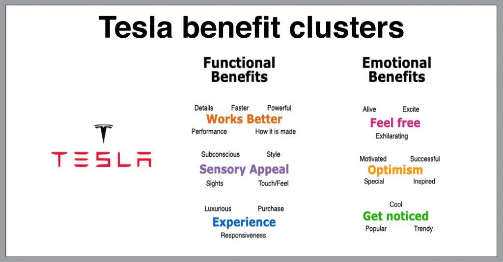 Tesla case study benefit clusters Elon Musk