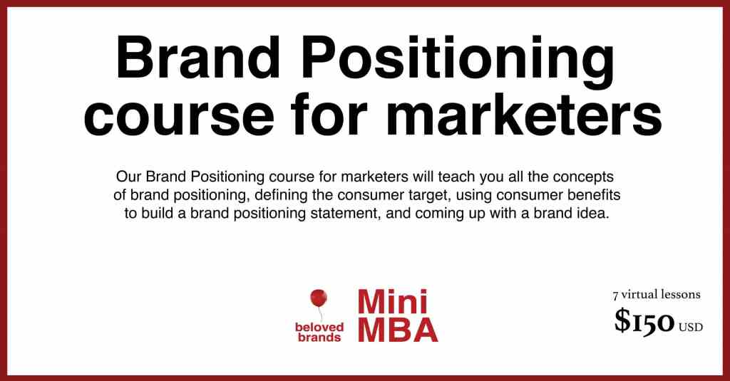 brand positioning course