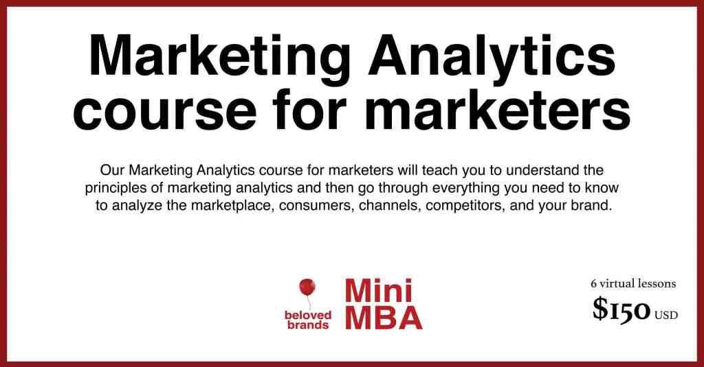 marketing analytics course