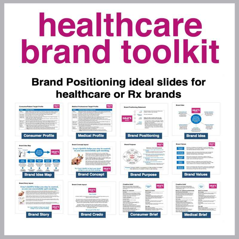 Healthcare brand toolkit brand positioning