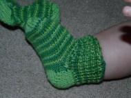 striped green baby feet!