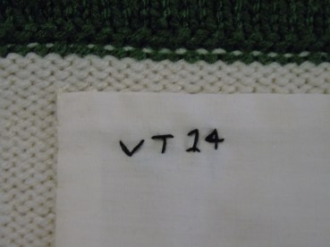 the muslin panel inside, with my initials and the year