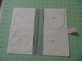 four inner pockets, labeled with cord lengths