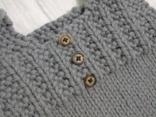 decorative buttons on the front for a gentlemanly look
