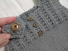 coordinating shoulder button for easy on and off