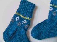 sock cuff colorwork