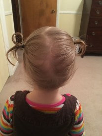 """hair is long enough for """"piggy tails""""!"""