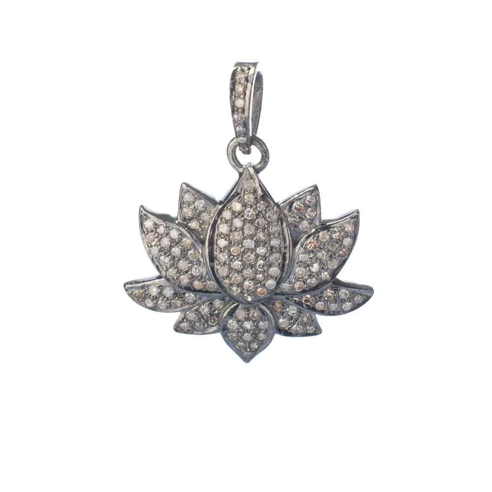 Medium Lotus Flower Charm