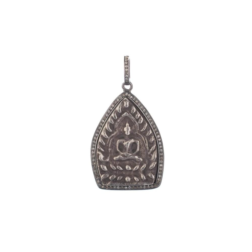 Sitting Buddha Diamond Pendant