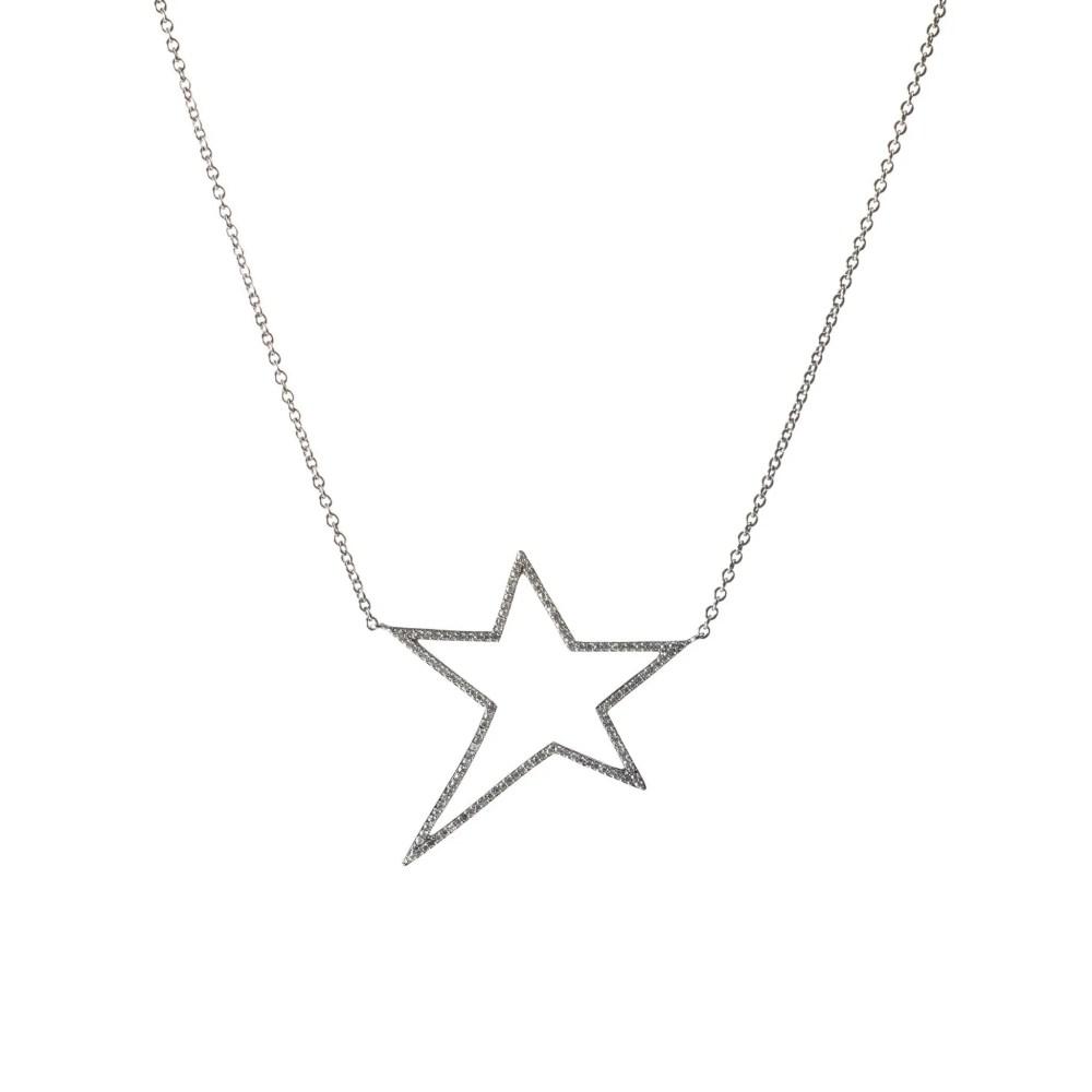 Diamond Star Statement Necklace