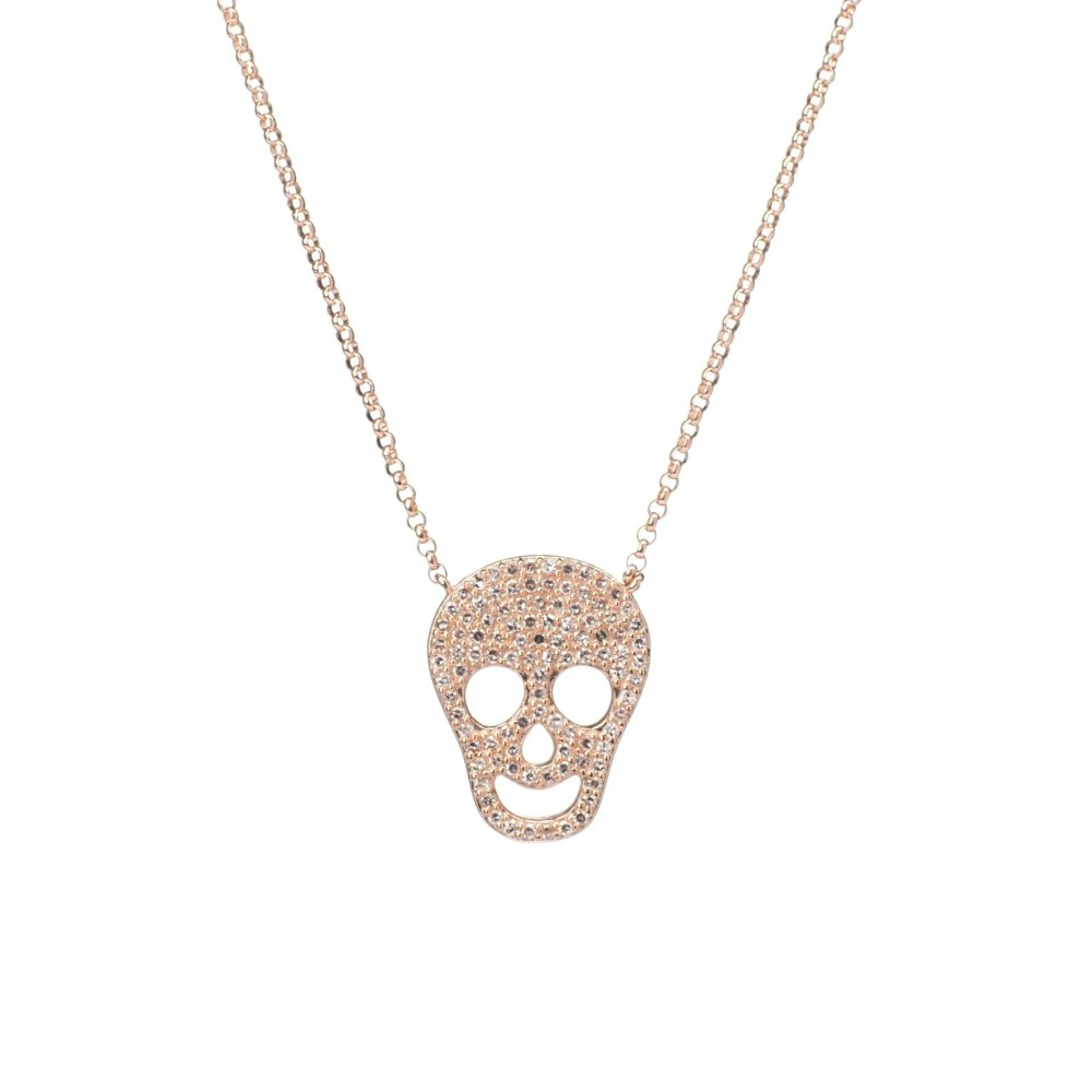 Diamond Skull Necklace