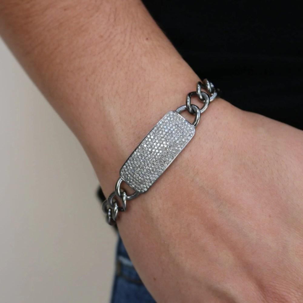 Chunky Diamond ID Bracelet