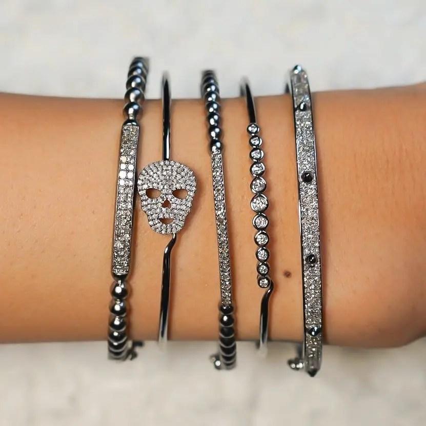 Diamond Bezel Wire Bracelet