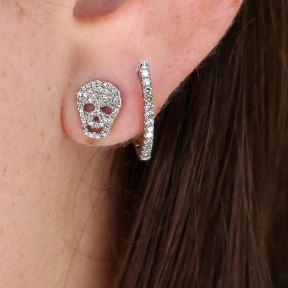 Diamond Skull Studs