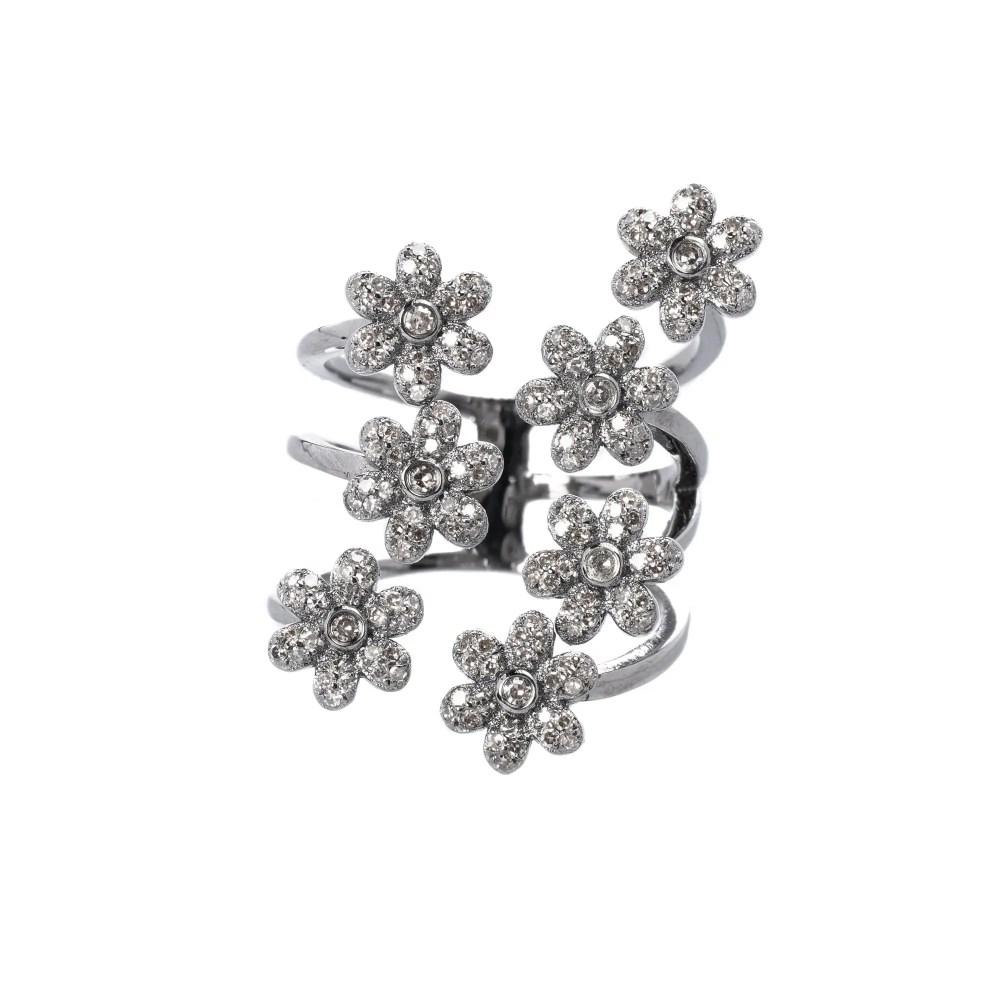 Diamond Multi Flower Ring