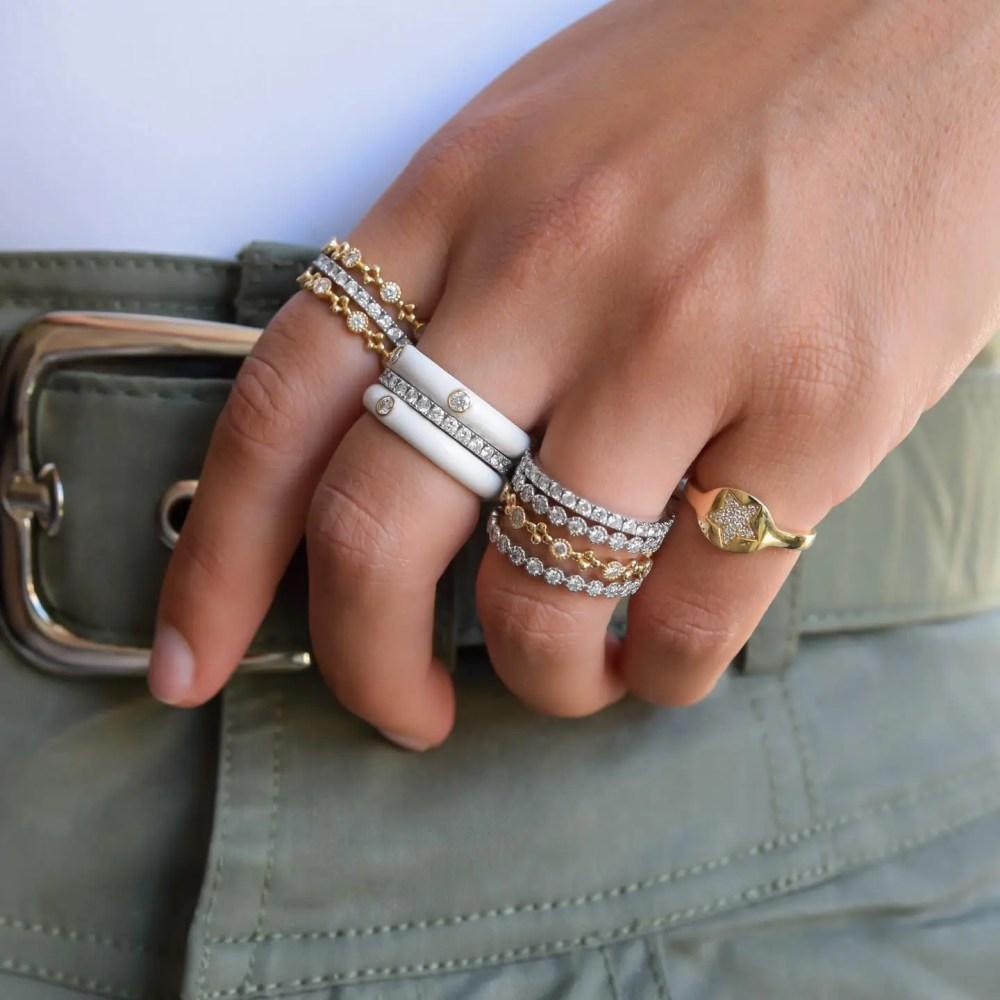 Diamond Star Pinky Ring