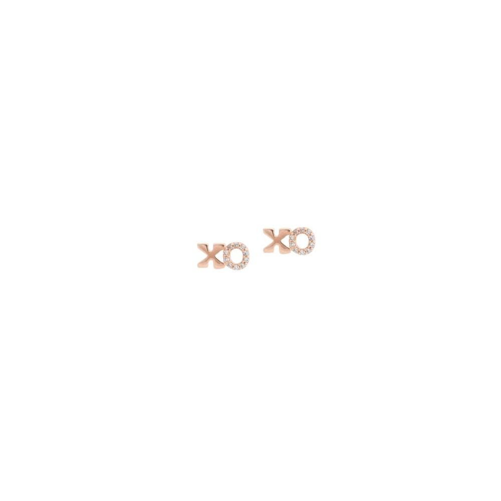 Petite XO Diamond Earrings Rose Gold