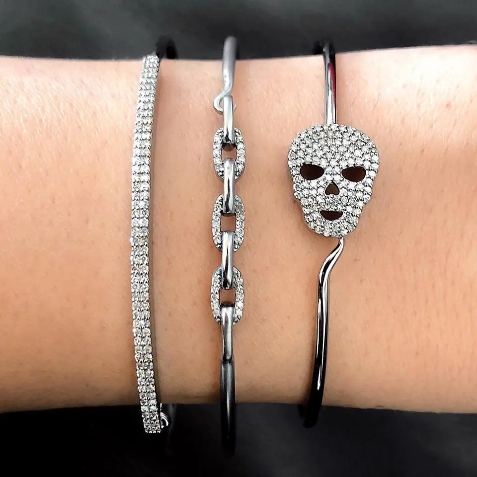 Diamond Link Wire Bracelet