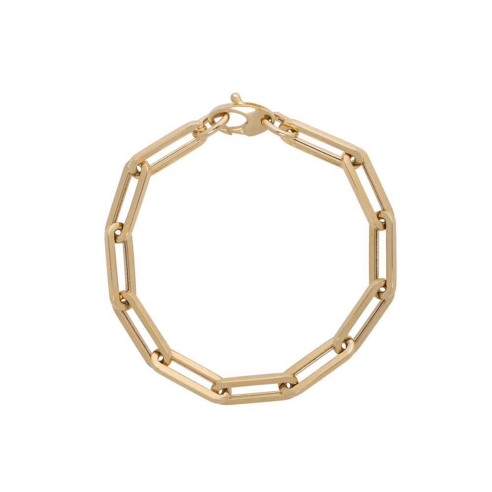 Large Chain Link Bracelet Yellow Gold