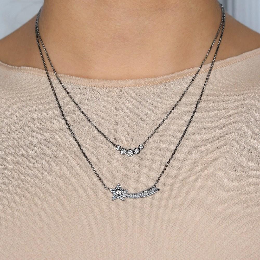 Shooting Star Diamond Necklace