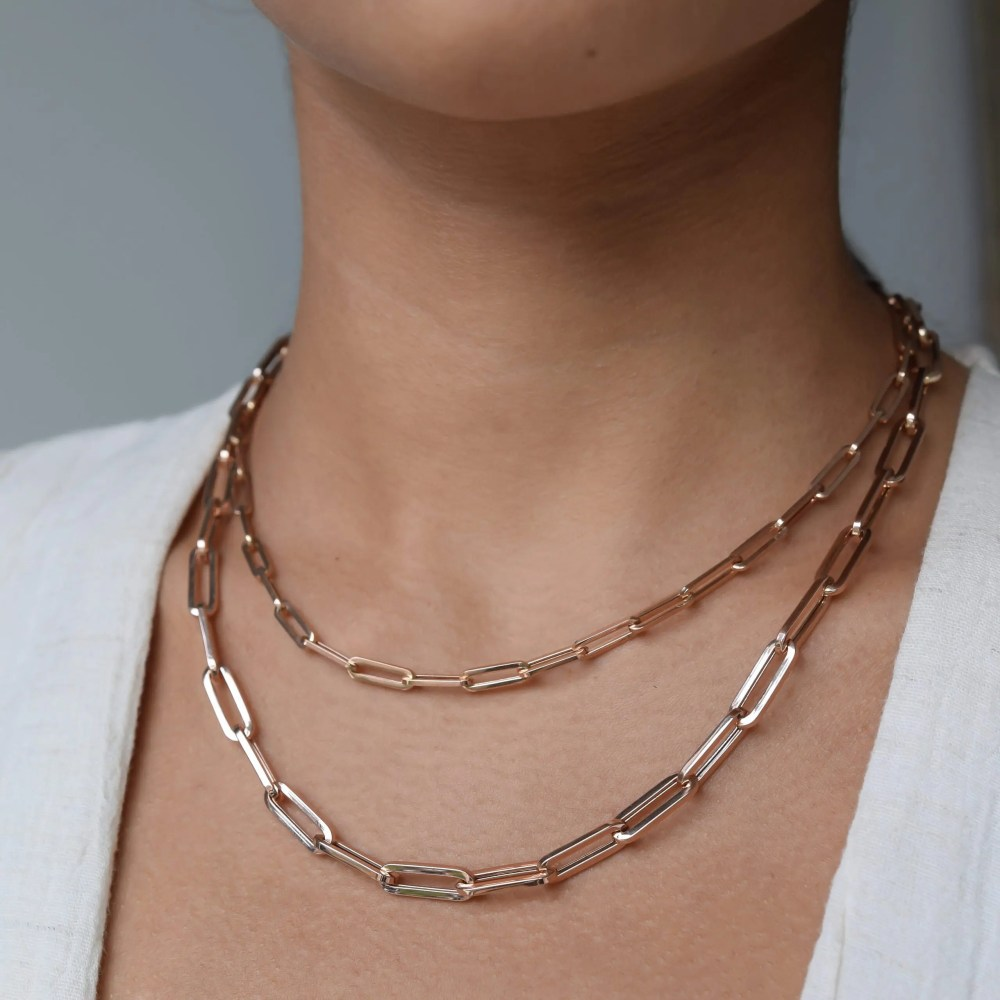 Small Chain Link Necklace