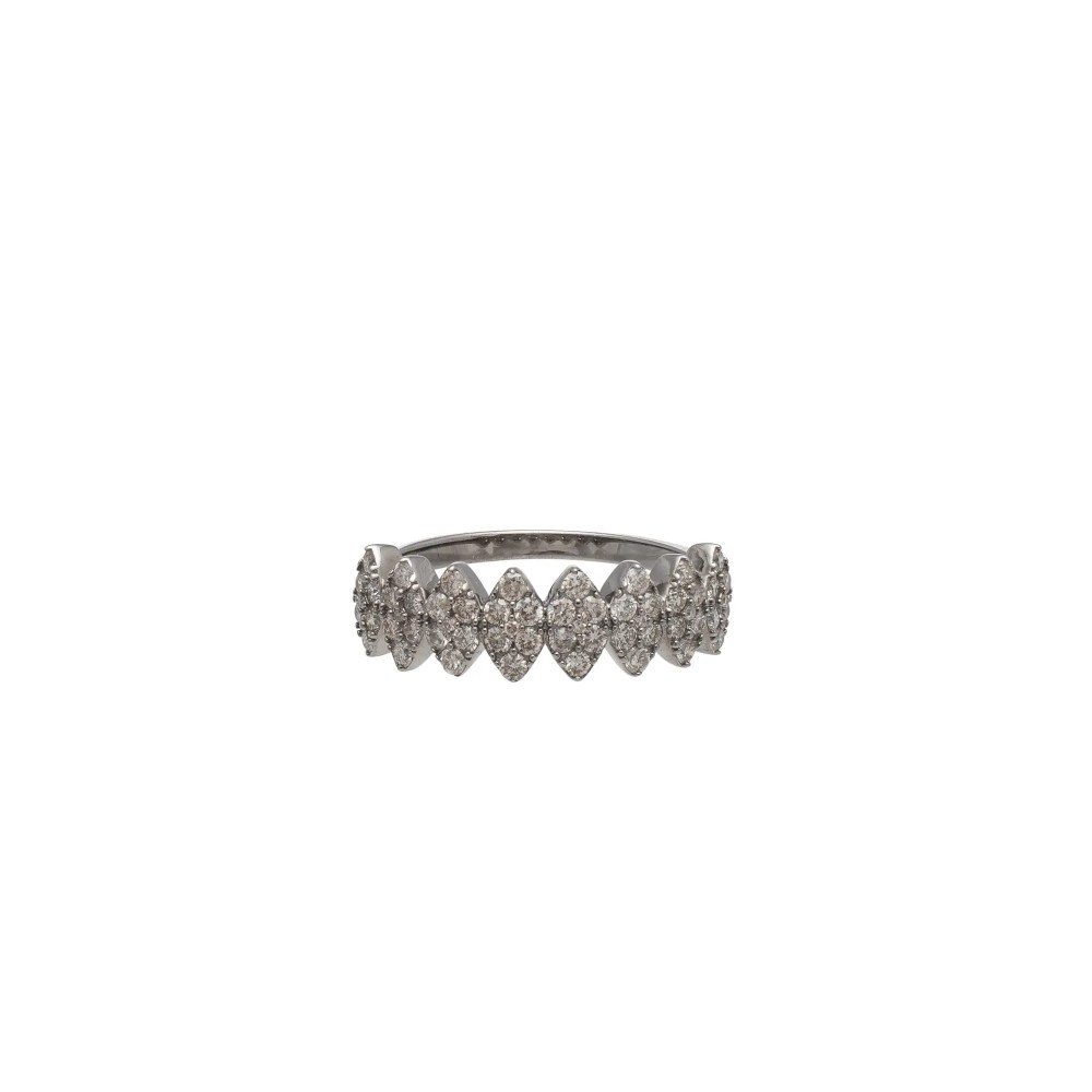 Diamond Marquise Ring Sterling Silver