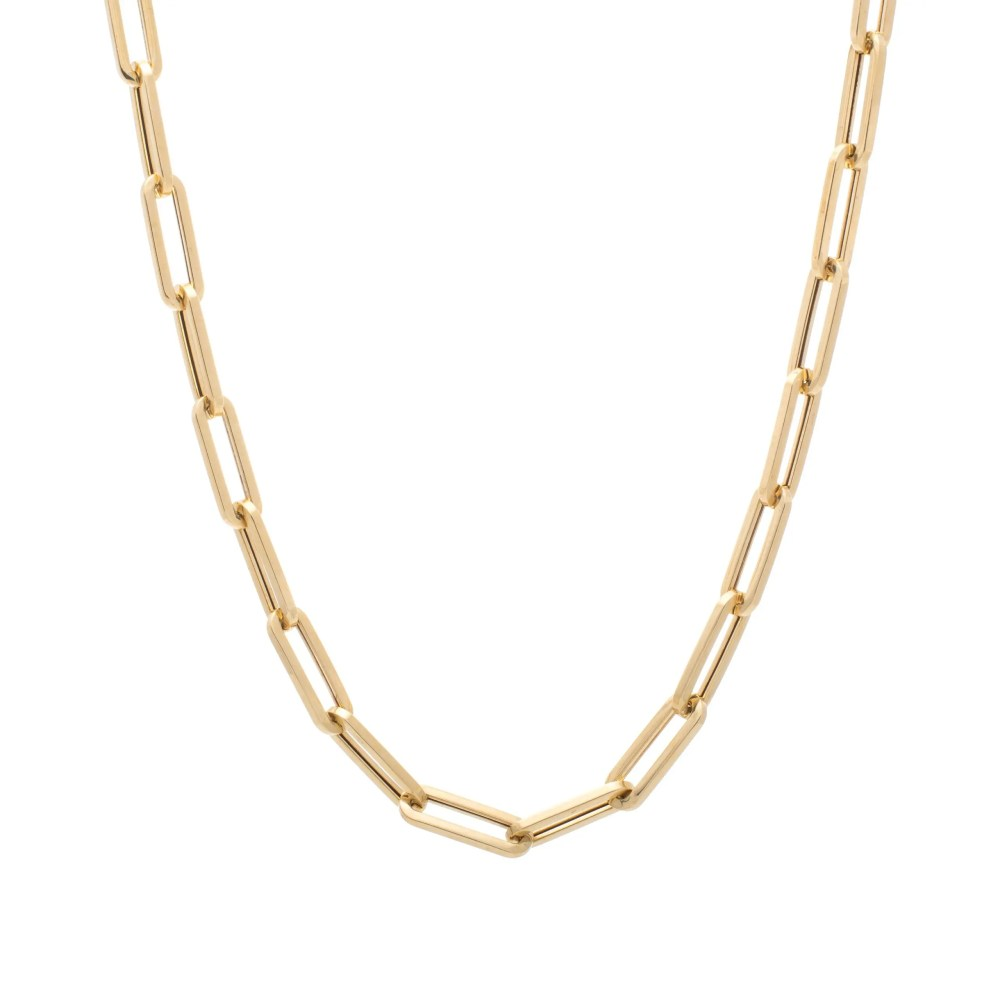 Large Chain Link Necklace Yellow Gold