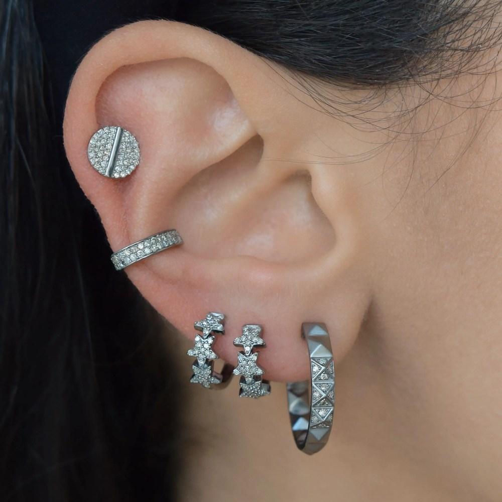 Mini Diamond Star Huggies
