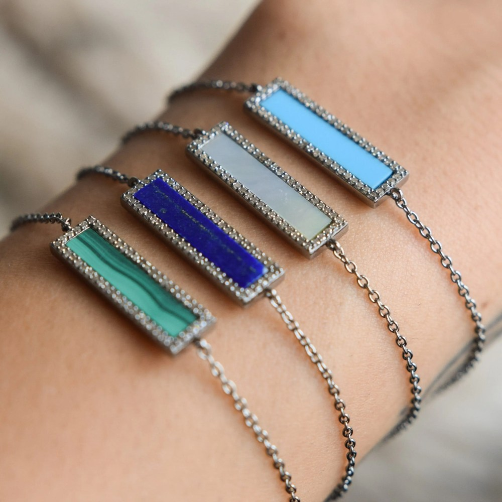 Diamond Turquoise ID Bracelet