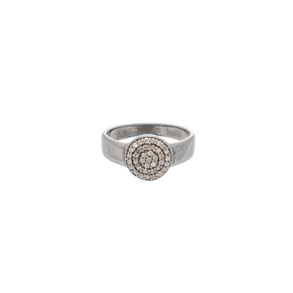 Diamond Circle Halo Ring
