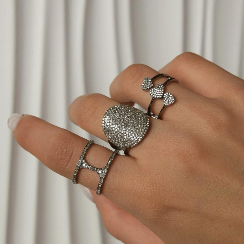 Diamond Bar Statement Ring